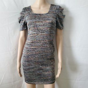 Forever 21 Square Neck Striped Bodycon Knit Dress